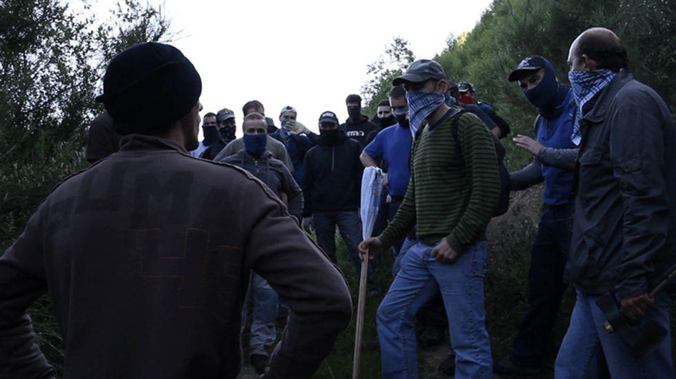 La aldea de Vilariño y sus sequeiros en imágenes.Un fotograma de «ReMine. El último movimiento obrero»