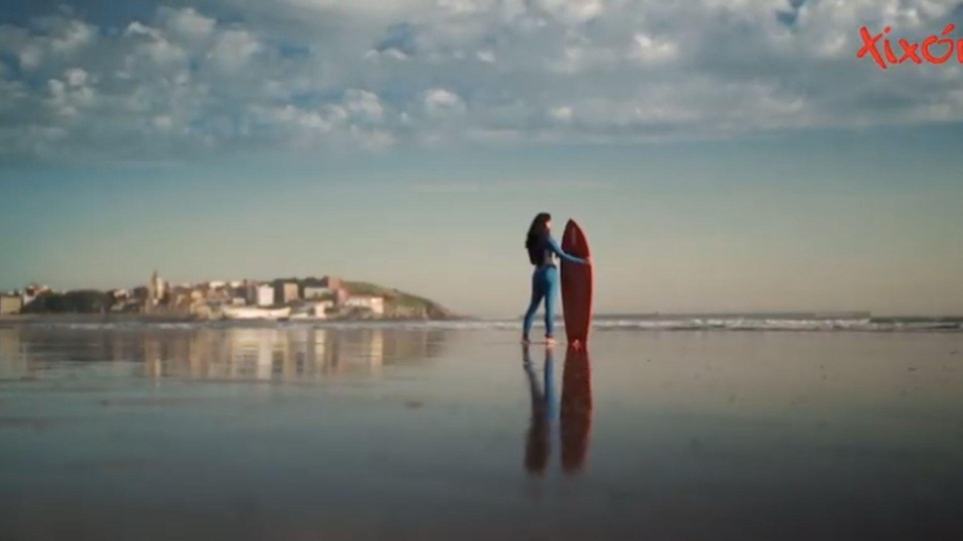 Bañistas, en la playa de Xagó