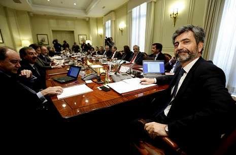 Carlos Lesmes, en el primer pleno que presidió del CGPJ, el pasado 20 de diciembre.