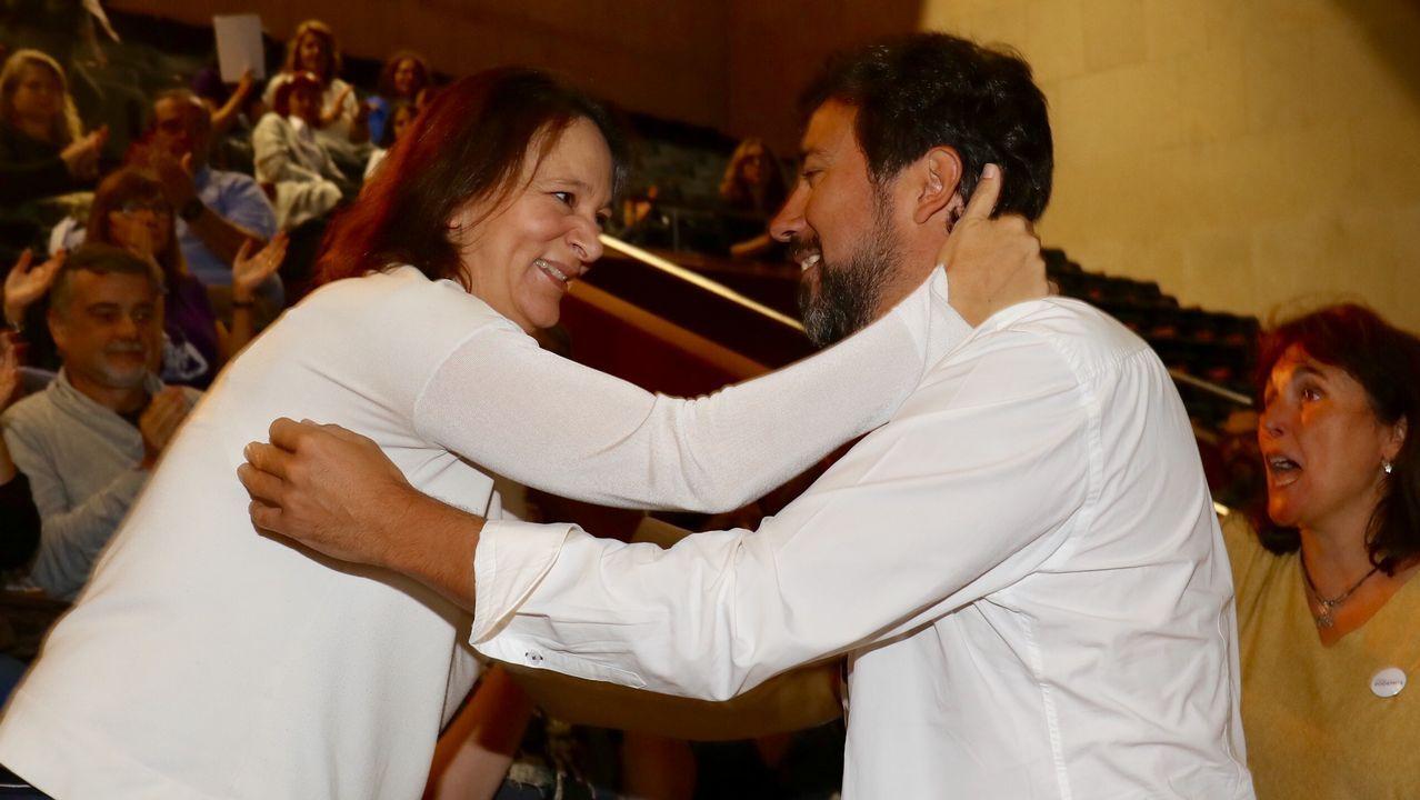 Comparece Gómez-Reino, el nuevo líder de Podemos Galicia.Asamblea de Podemos Galicia