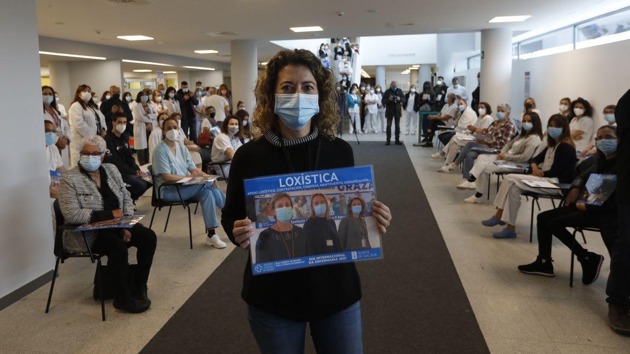 Así fue el acto por el Día Internacional de la Enfermería en el CHUO.Una escena de la unidad de críticos del Chuo en plena segunda ola de la pandemia