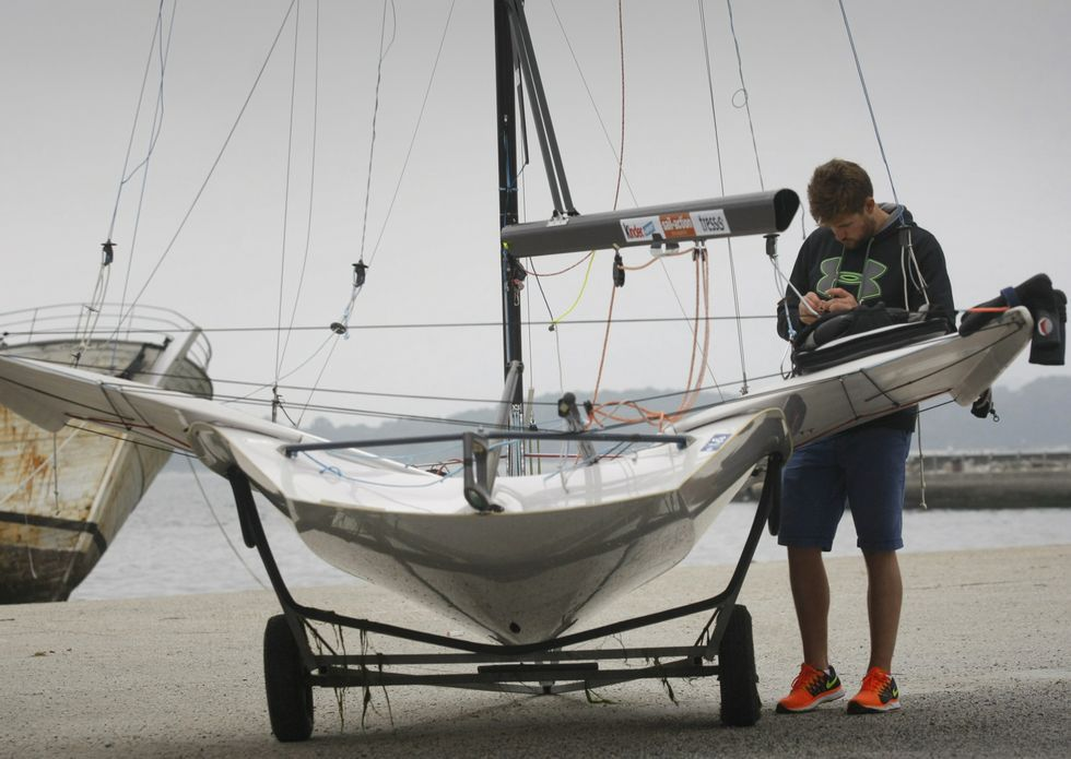 Entrega de premios regata Ramiro Carregal.La salida es uno de los momentos más espectaculares de la competición.