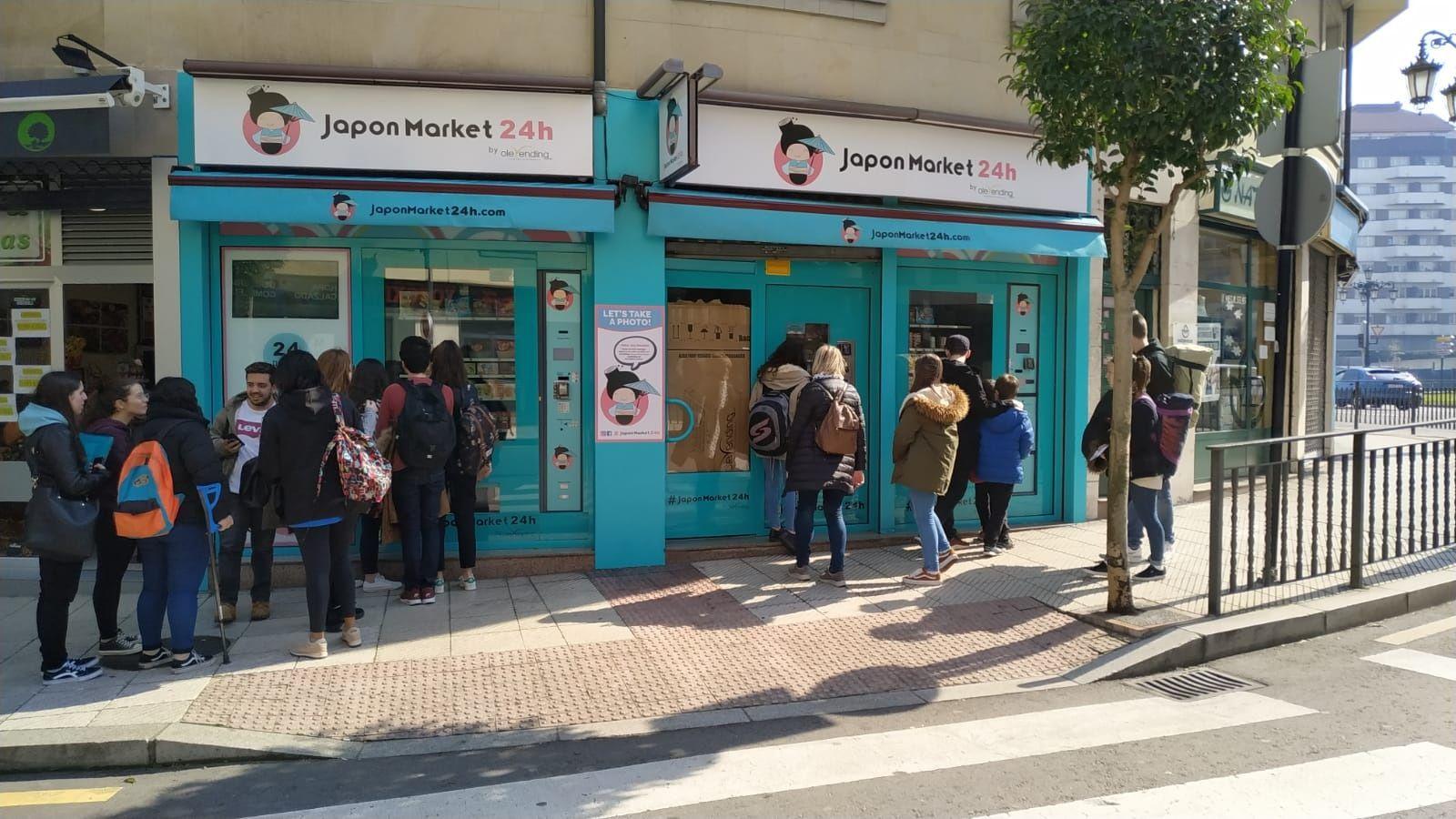 Máquinas expendedoras de comida japonesa en Oviedo