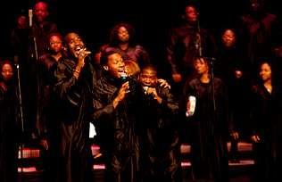 Los miembros de Alabama Gospel Choir, en un concierto el pasado año en A Coruña.
