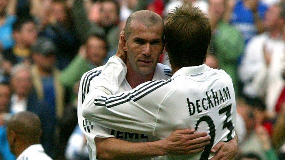 Cristiano, encantado con Zidane.Zidane, el último día en el Bernabéu, el 7 de mayo del 2006.