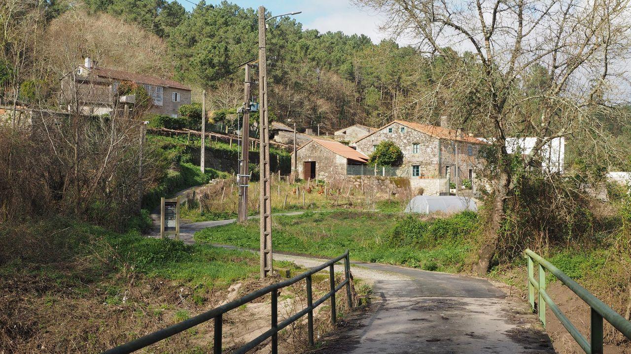 La zona por la que se prolongará la calle Rof Codina, vista desde el Parque dos Condes