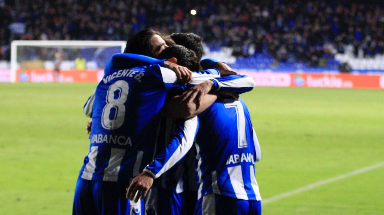 Las imágenes del Deportivo - Zaragoza