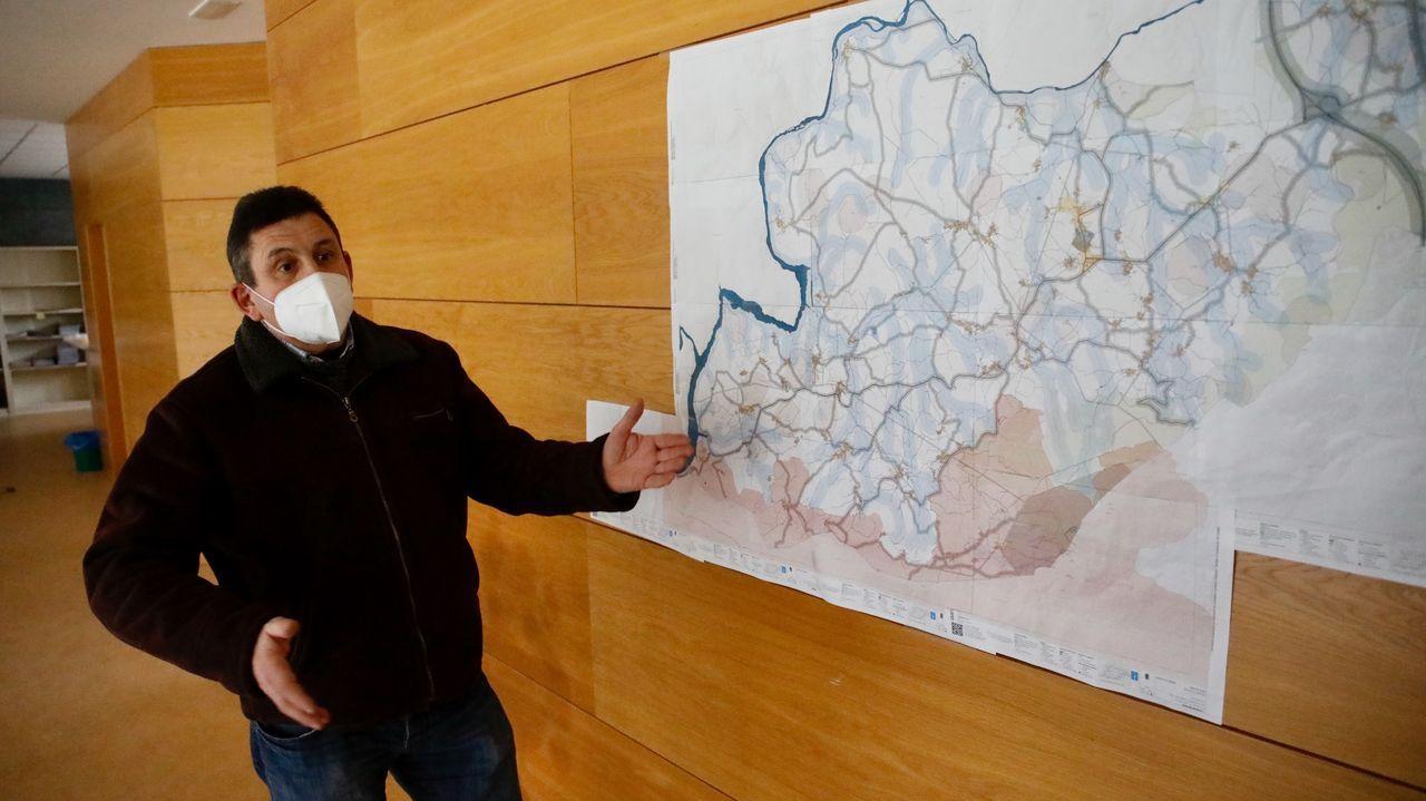 El alcalde de O Páramo, José Luis López, en una imagen de archivo de la presentación del Plan Básico