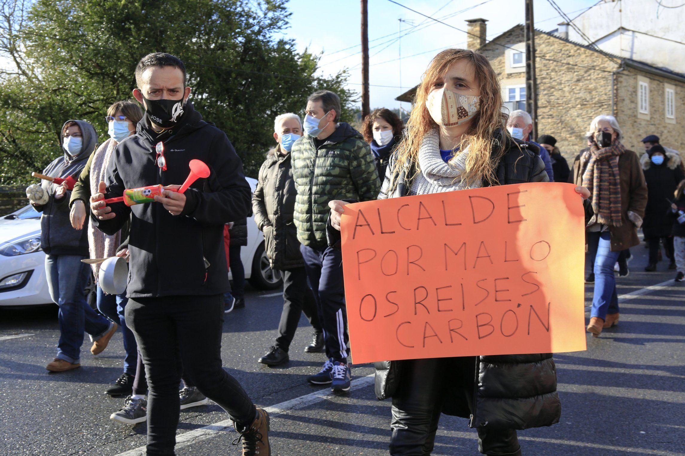 En Baamonde se han sucedido las protestas en los últimos meses, como señal de rechazo al cierre del colegio