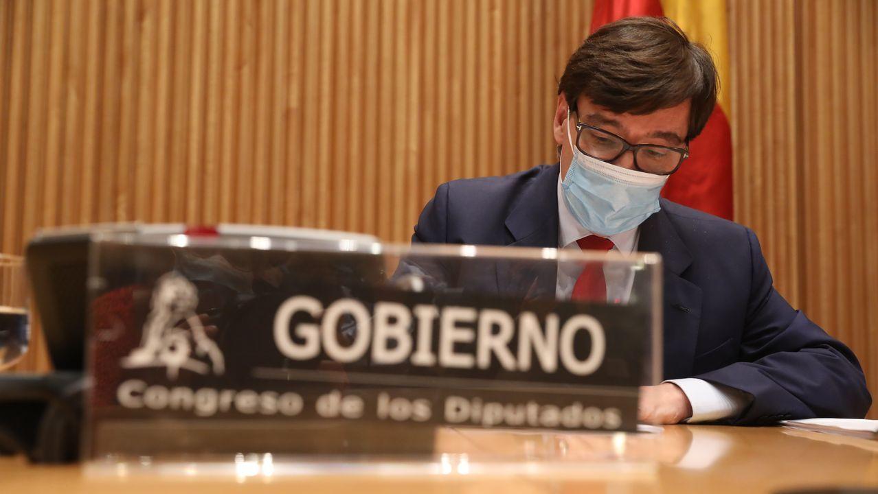 Los ministros de Sanidad e Interior comparecen tras el Consejo de Ministros extraordinario para declarar el estado de alarma en Madrid.El ministro de Sanidad, Salvador Illa