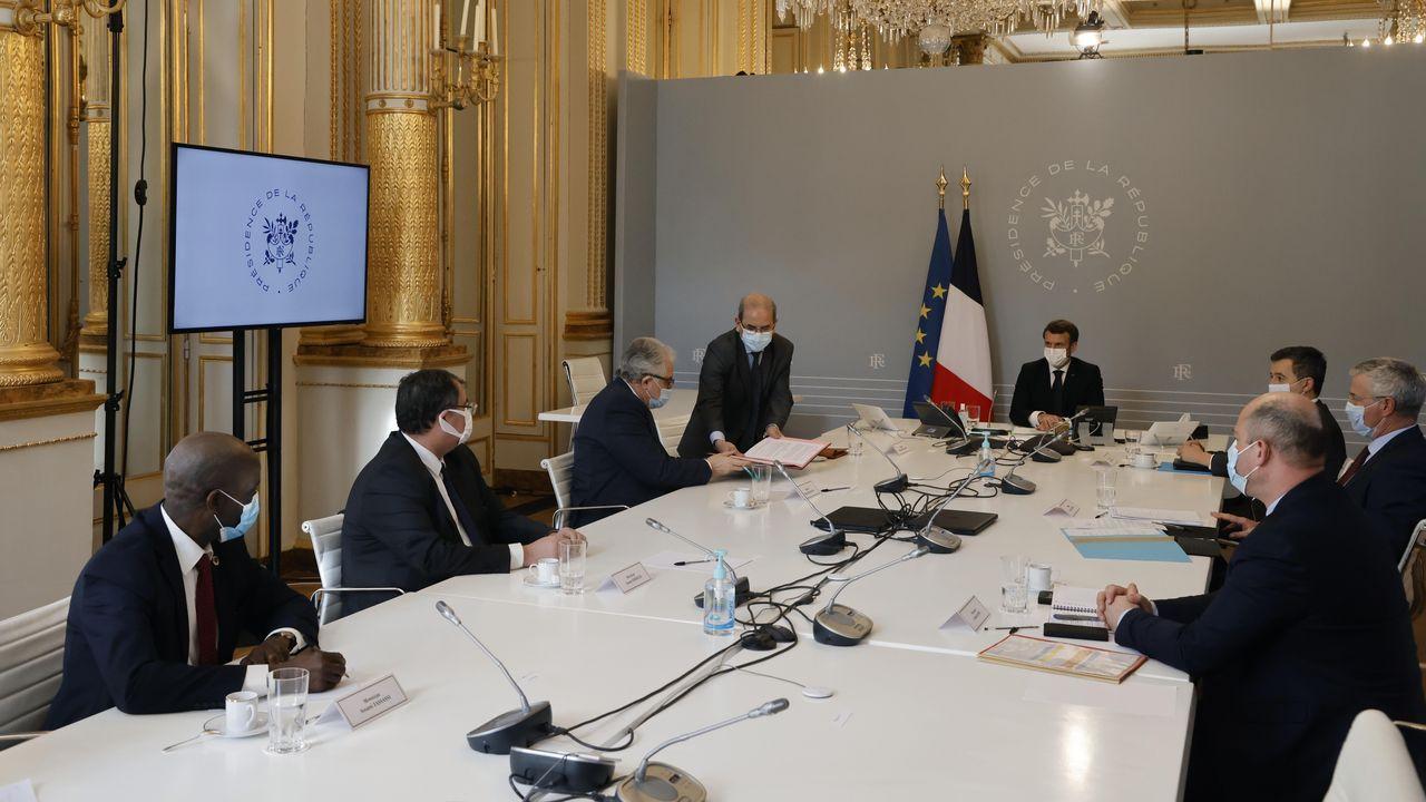Macron recibió este lunes en el palacio del Elíseo a los líderes musulmanes