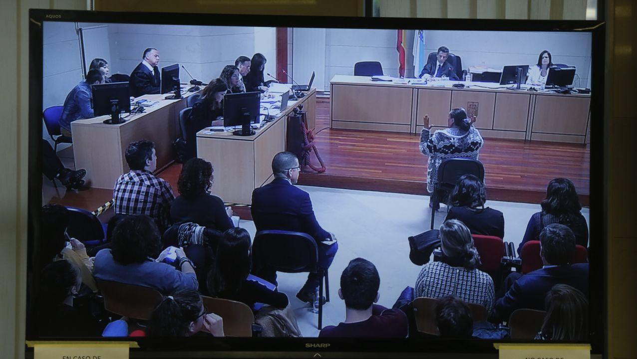 Vista del proceso, con jurado popular, del caso de Diana Quer