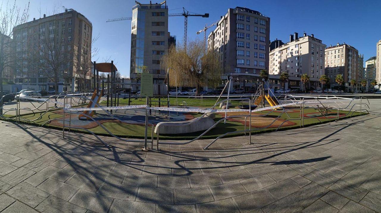 Parque de Augas Férreas cerrado