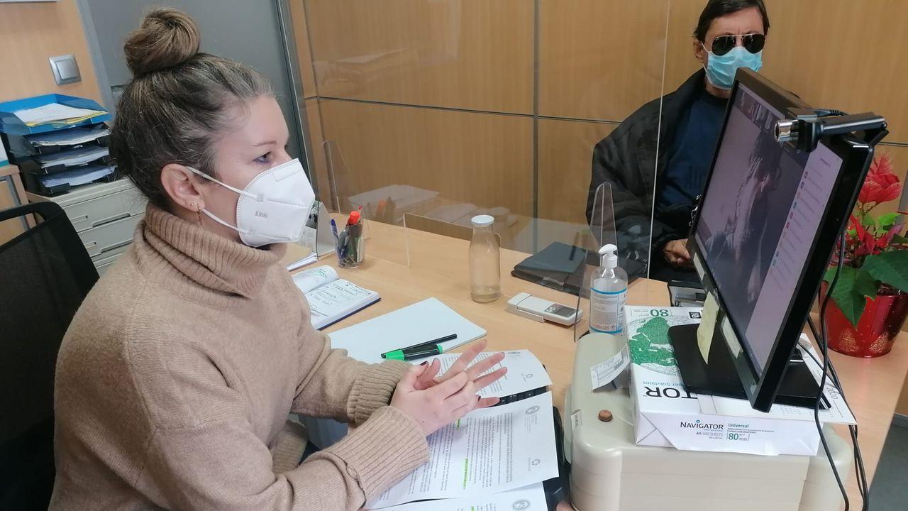 Vacunación en una residencia de mayores de Pontevedra