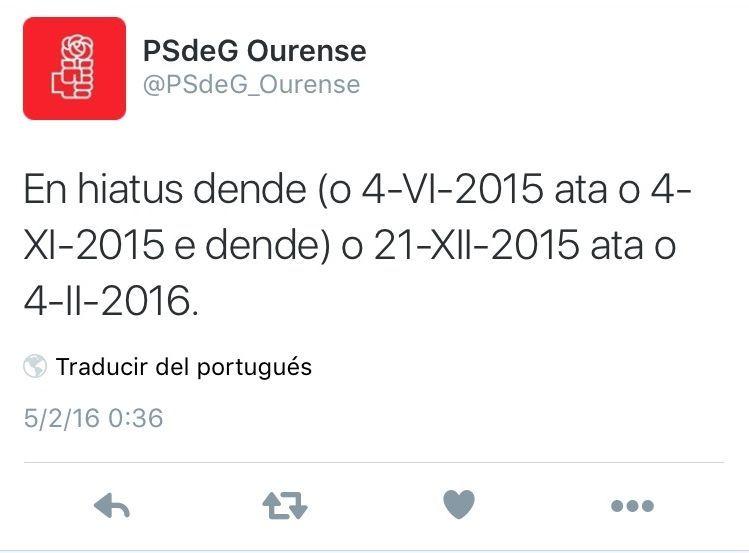 <span lang= es-es >Autocríticos</span>. El PSOE asumió en un tuit su inactividad.