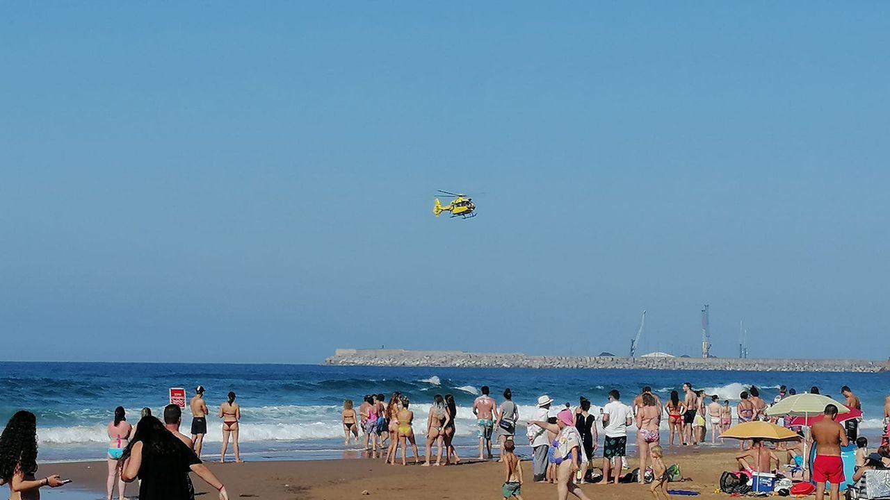 El SEPE busca a un hombre que podría haberse ahogado en la playa de Xivares