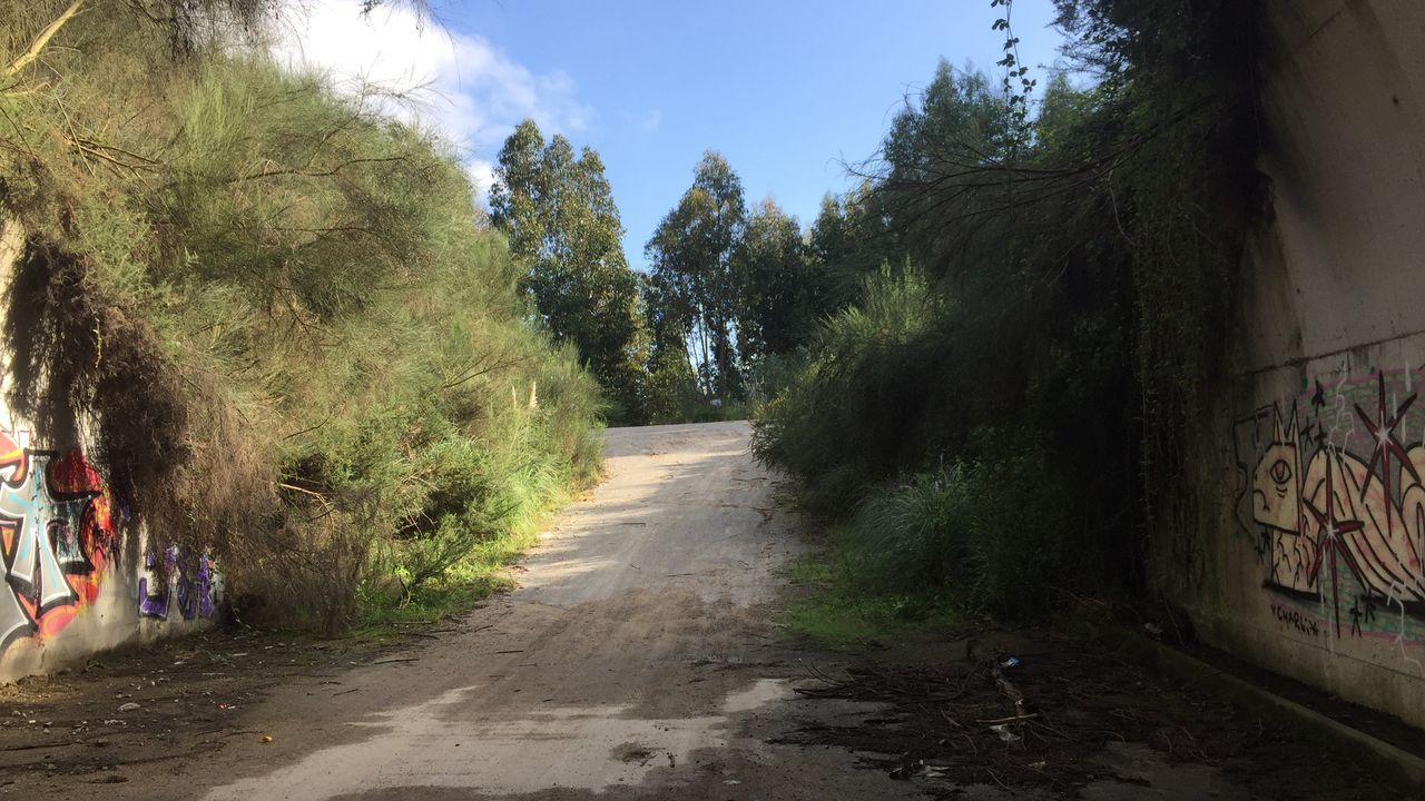 Así está la senda Camiño de Campos.Rosa Gallego, en su primera comparecencia ante los medios tras ser nombrada portavoz del PP coruñés