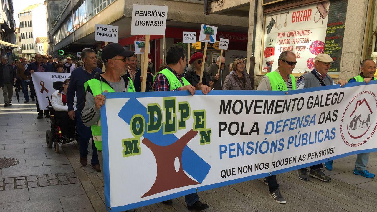 Movilización de los pensionistas en Ribeira