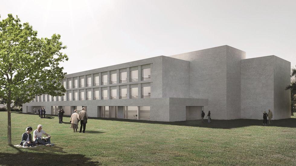 Así serán las nuevas residencias de mayores como la que se proyecta en Ferrol.La conselleira de Política Social, Fabiola García, y la alcaldesa de Marín, María Ramallo, durante su visita al centro ocupacional de Juan XXIII