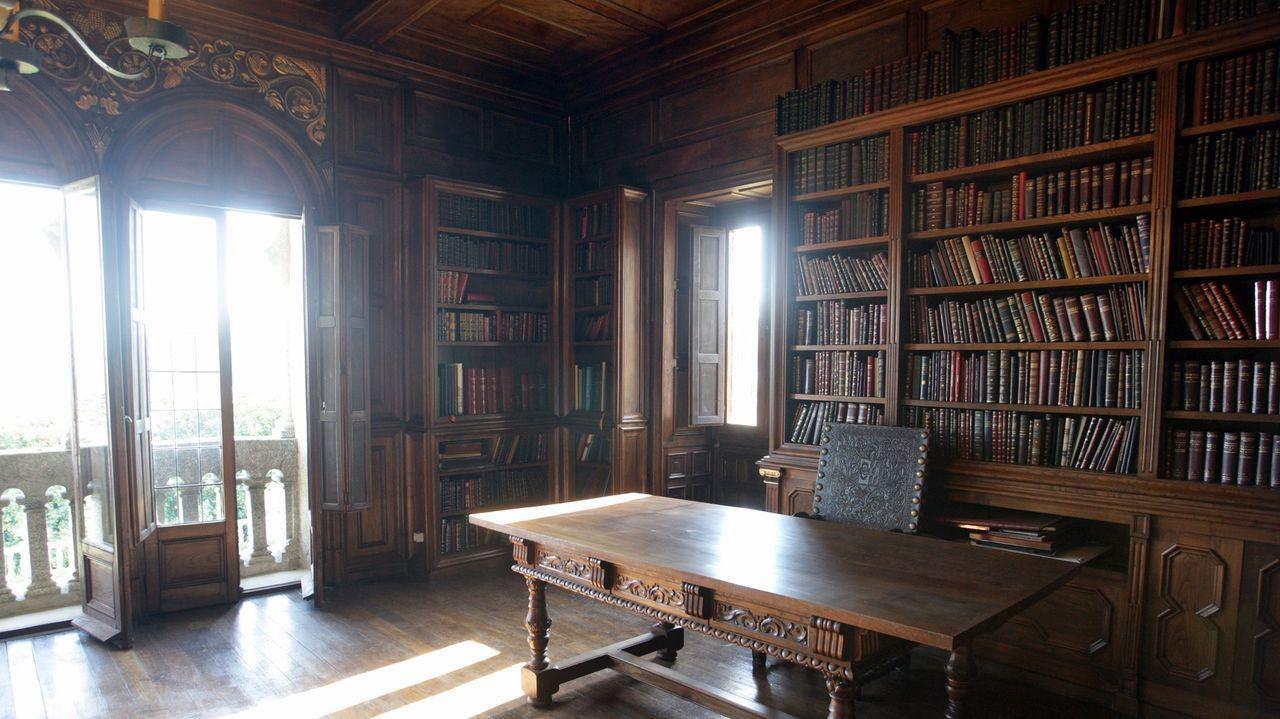 Las pilas que guarda Meirás.Biblioteca de las torres de Meirás