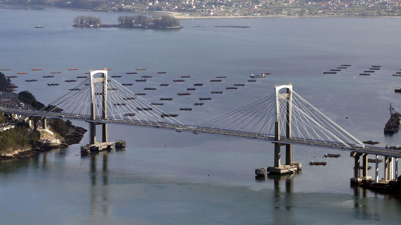 De scalextric por Meaño.La ampliación del puente de Rande es una las obras que se financiarán con el aumento de los peajes