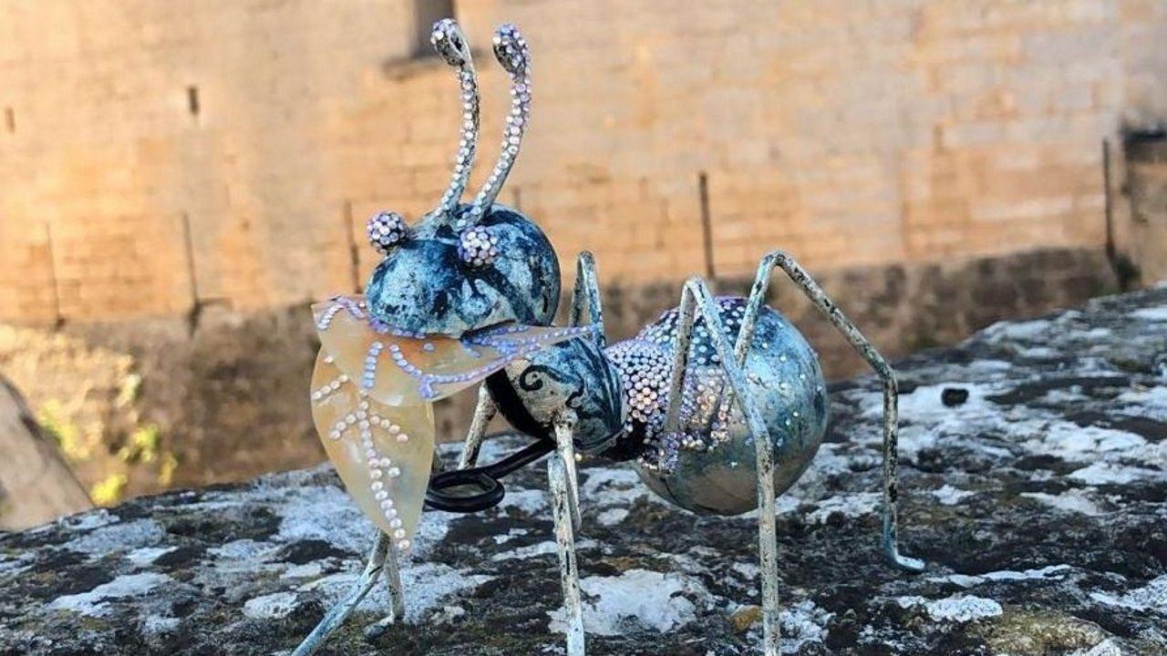 La hormiga de Puri Lema, en el castillo de Bellver, Mallorca