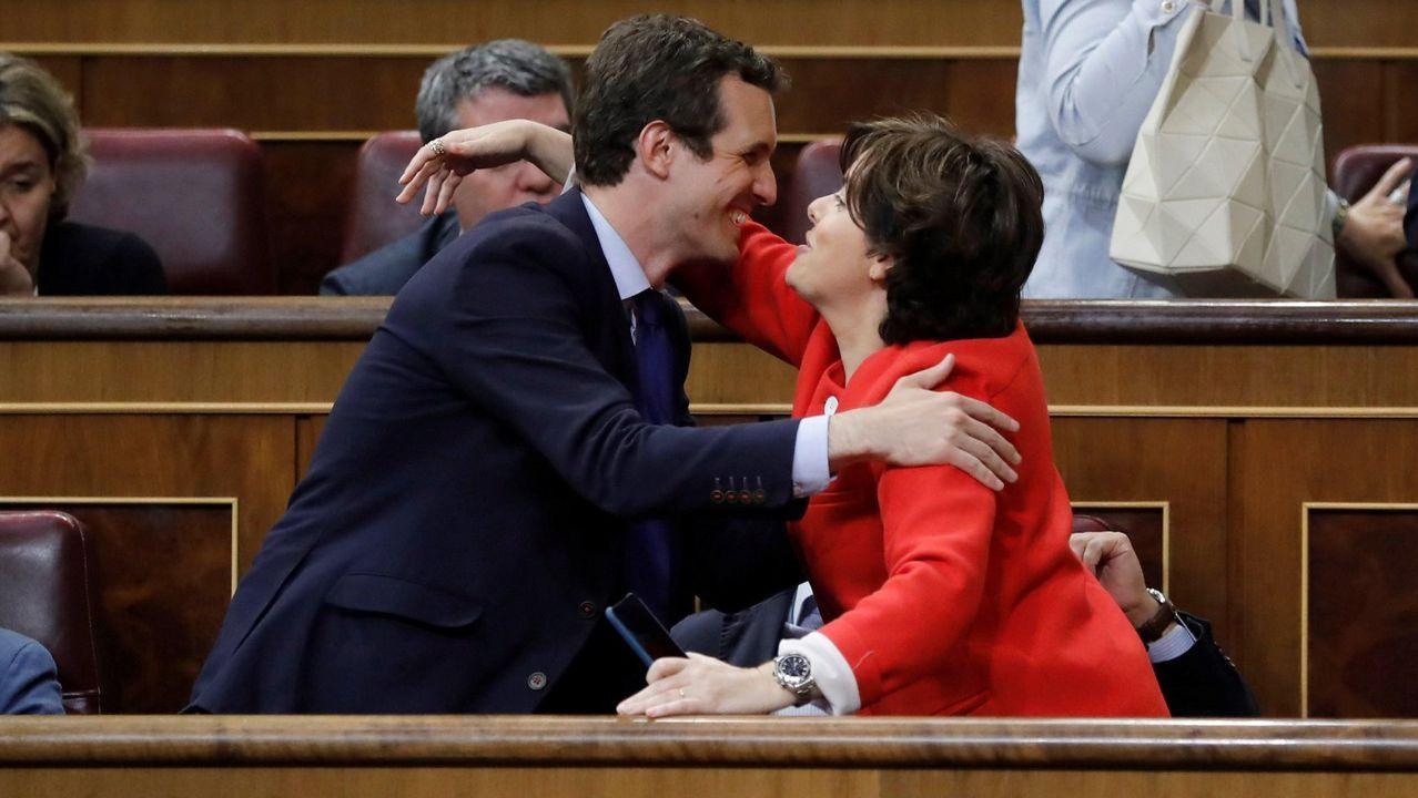 El relevo de Rajoy en el PP, en imágenes.La canciller Angela Merkel, en el Bundestag de Berlín
