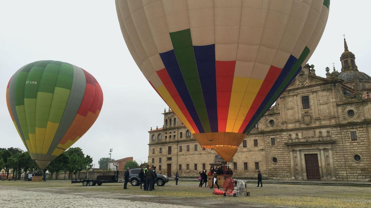 Primer viaje en globo organizado en la Ribeira Sacra por la empresa Viento Zero, ahora denunciada por estafa