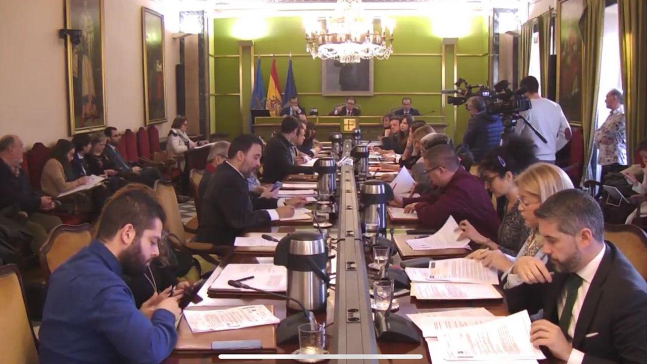 La familia real hace pública su nueva imagen.Sesión plenaria del Ayuntamiento de Oviedo