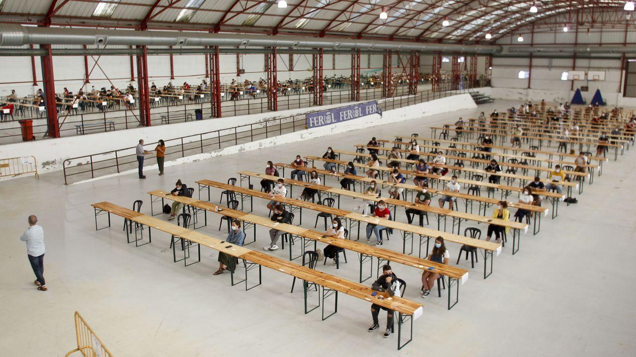 Los exámenes se celebraron en Punta Arnela
