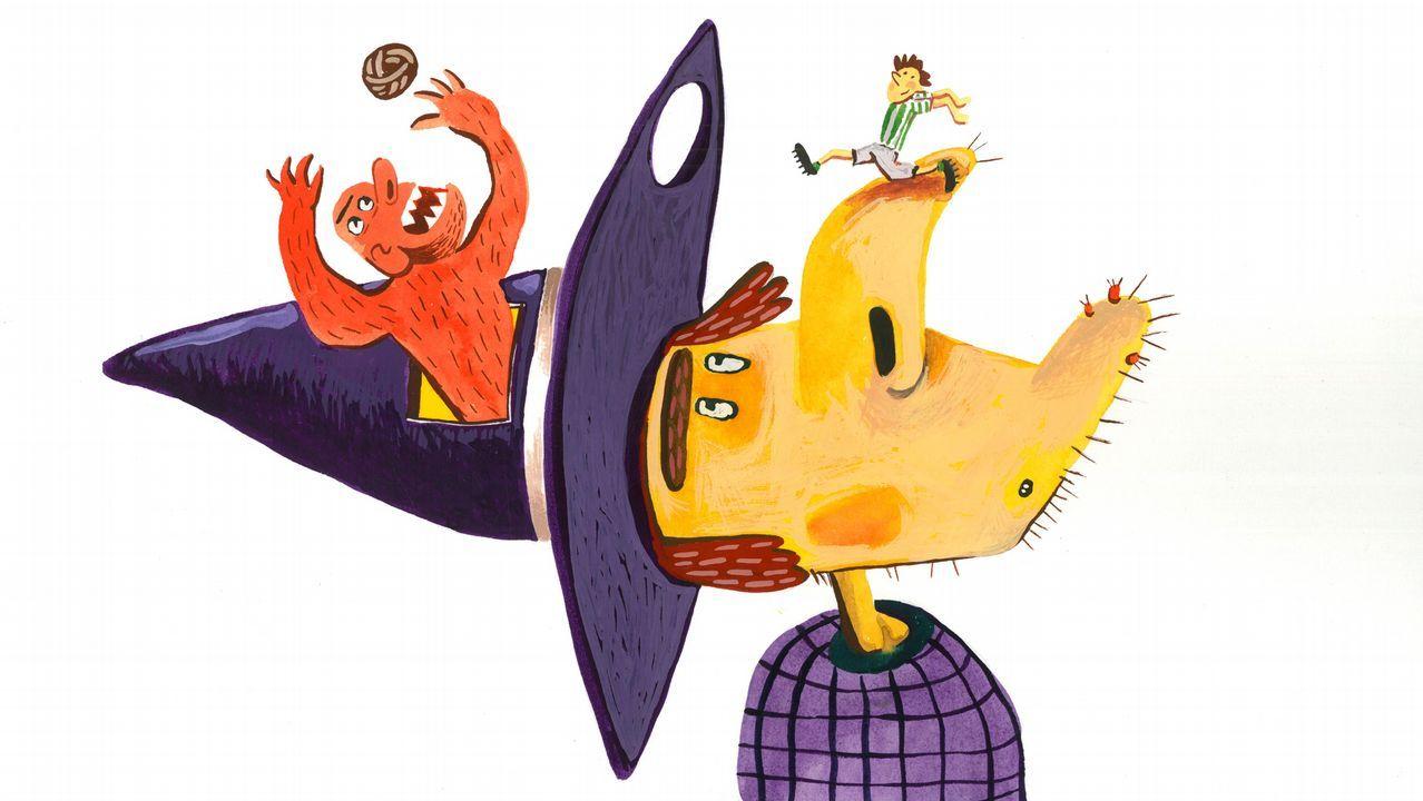 Detalle dunha das ilustracións de Federico Fernández