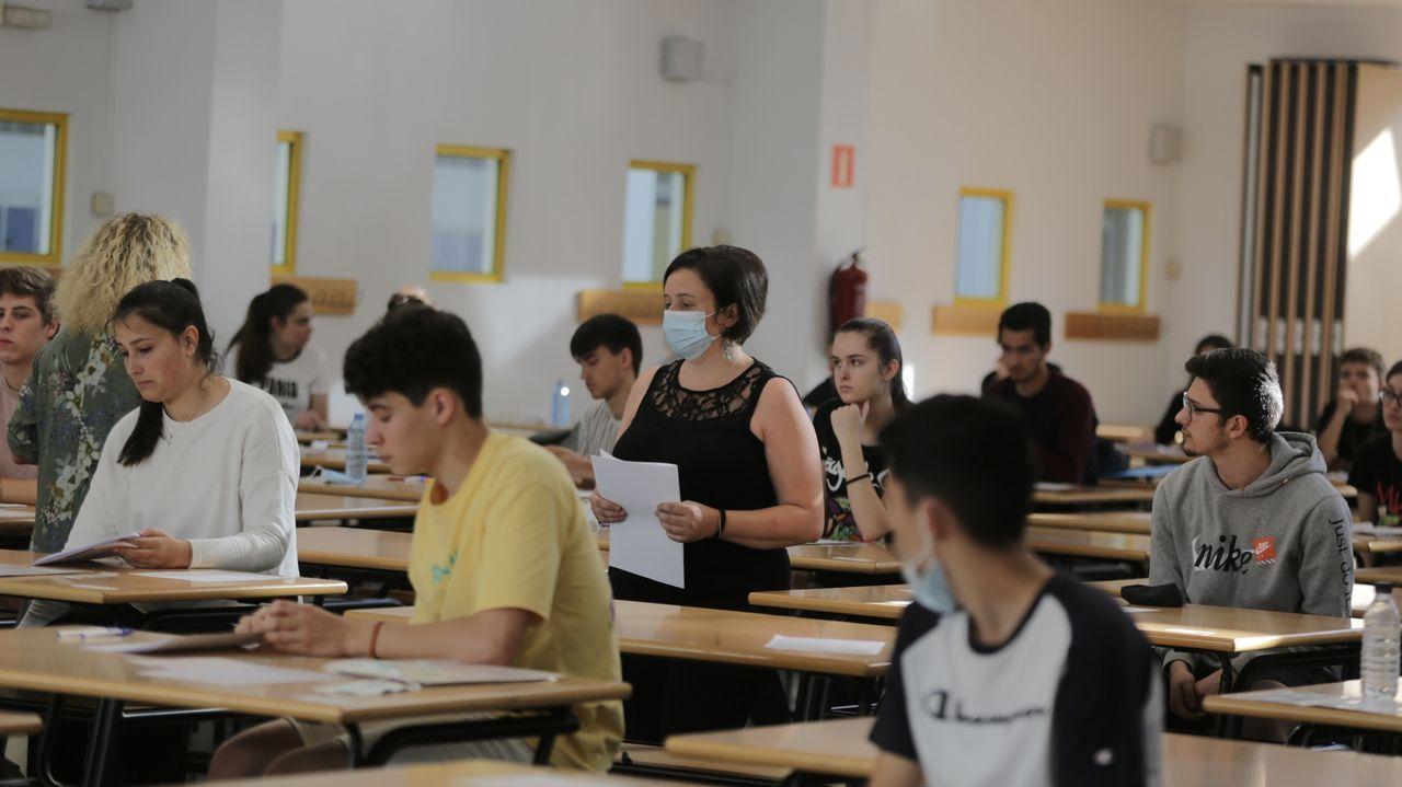Imagen de la última prueba de selectividad realizada en A Coruña