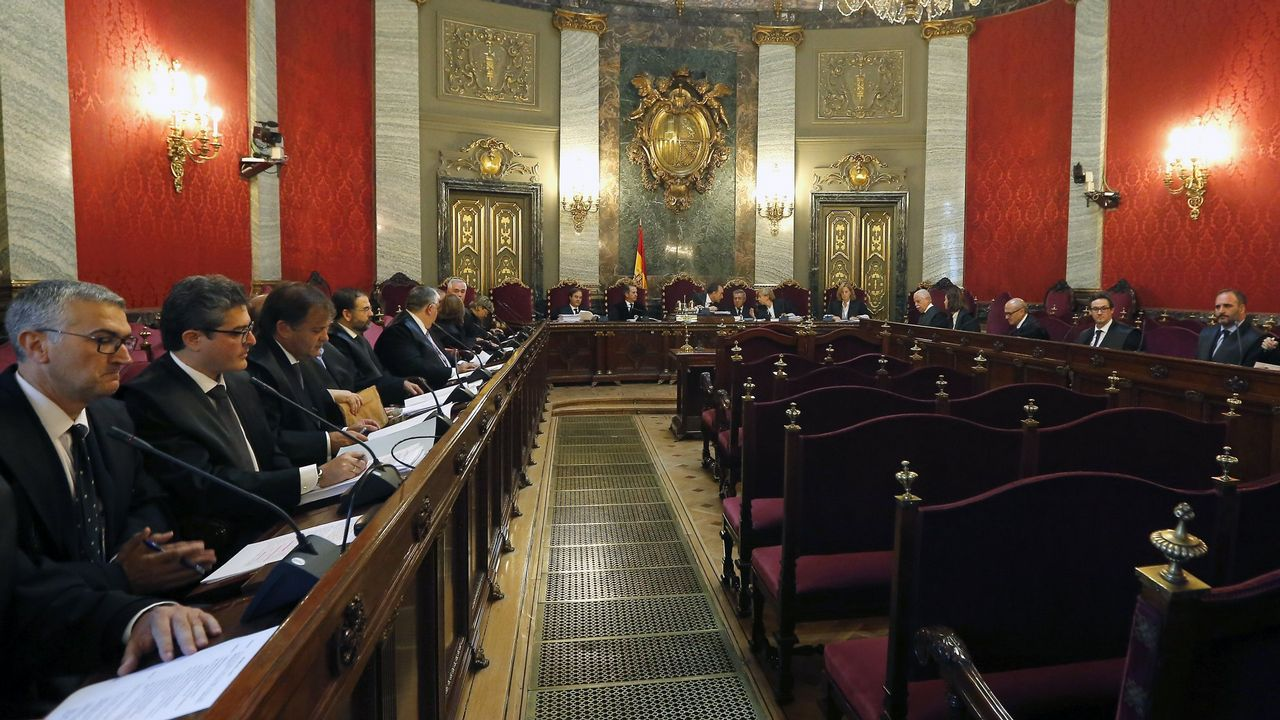 Vista del Tribunal Supremo celebrada en el 2015 para tratar los recursos contra la sentencia del Prestige