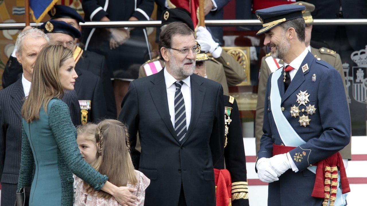 La primera fiesta nacional del 12 de octubre presidida por Felipe VI