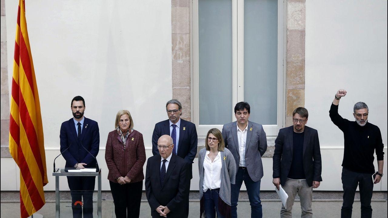 «TV3 es un arma de intoxicación masiva».Roger Torrent (1979); Pere Aragonés (1982); Sergi Sabriá (1975); Elsa Artadi (1976)