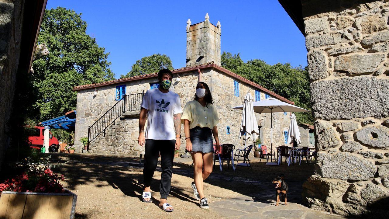 Lugo soporta temperaturas de récord.A Parada das Bestas, en Palas de Rei