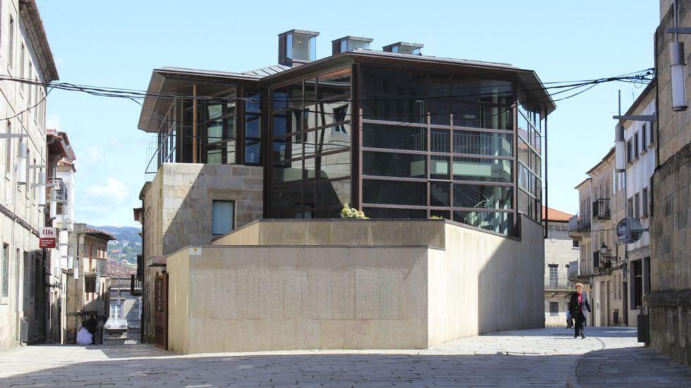 <span lang= es-es >Pazo da Cultura</span>. De Manuel de las Casas. Se destaca sus audaces formas y materiales.
