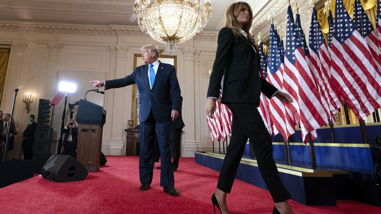 Trump, a su regreso a la Casa Blanca tras jugar al golf