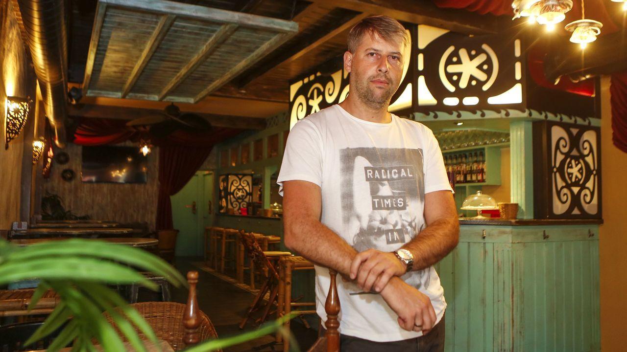 César Freire, responsable del Pub Area Oasis