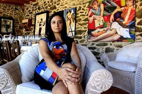 Marta Montero expone en el Pazo de Leborís, en A Laracha.