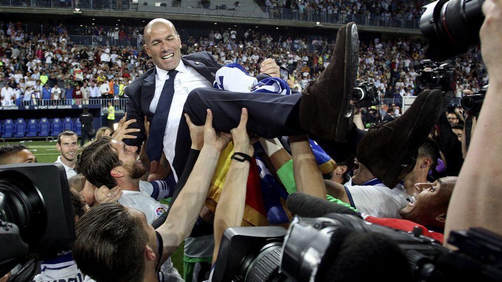 El Real Madrid celebra el título de Liga en Cibeles
