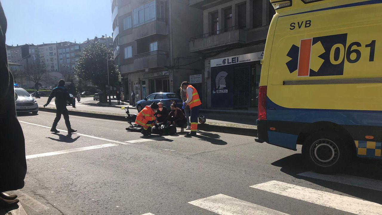 Accidente de tráfico en la capital ourensana