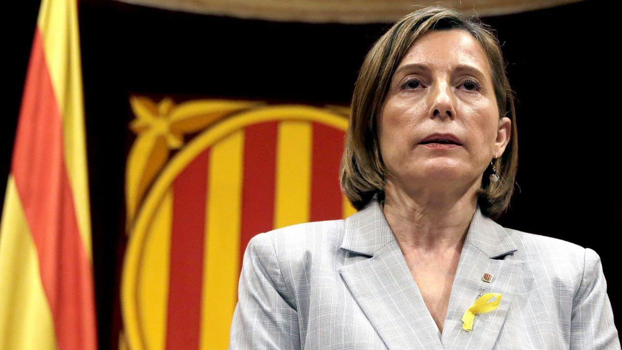 Forcadell acata las órdenes de Rajoy.Albano Dante Fachin, esta mañana ante el Supremo