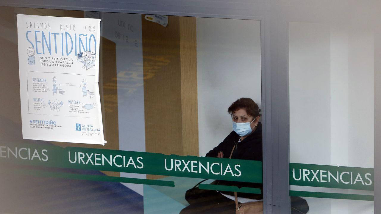 Entrada de urgencias del Hospital Montecelo de Pontevedra