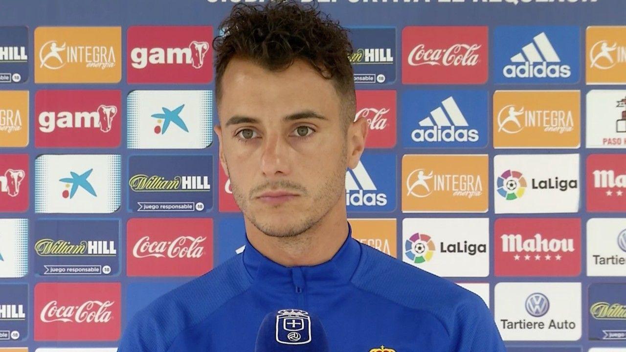 Sergio Tejera antes del inicio del entrenamiento en grupo