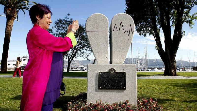 Monumento a los donantes de órganos en Montero Ríos