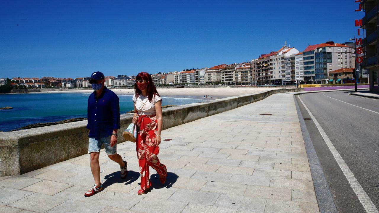 El paseo marítimo de Sanxenxo