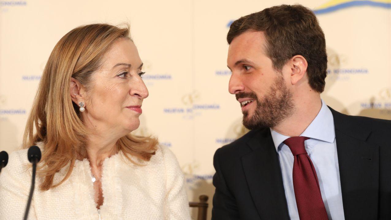 Ana Pastor fue propuesta por Casado para presidir la comisión. En la foto, en un desayuno informativo en noviembre
