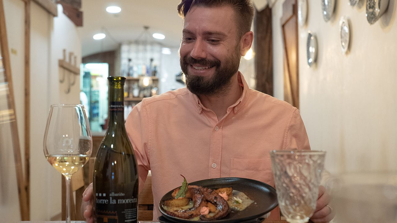 Martín Pais, gerente del restaurante Orixe, en Santiago