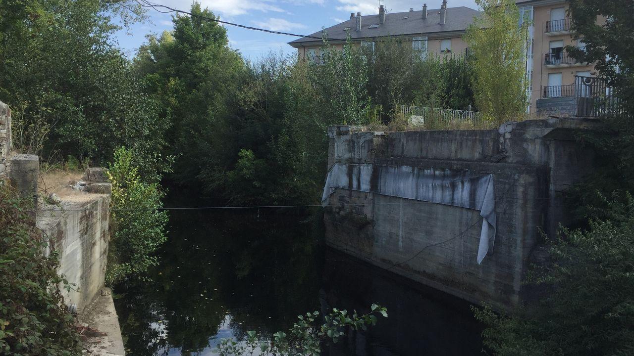 Estado actual de los estribos de Ponte Ribeira